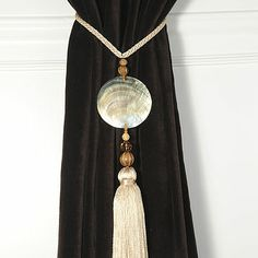 Pair Of Round Shell Curtain Tie Backs