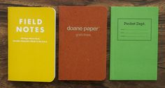 Pocket notebook shootout: Field Notes, Doane Paper, Princeton Architectural Press Dept Shirt Pocket