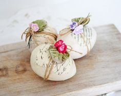 Softly decorated eggs for Easter & Spring, or anytime.