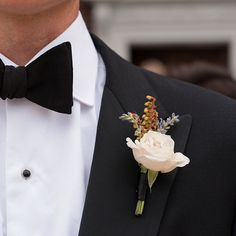 Brides: Groom's Boutonniere Ideas