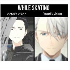 THE HAIR!!! XD | Yuri Katsuki | Viktor Nikiforov | Yuri on Ice | YOI