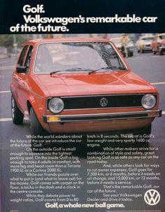 MkI VW Golf Advert