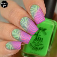 Uber Chic Beauty Collection 27 Nail Art stamping design Fair Maiden optical illusion