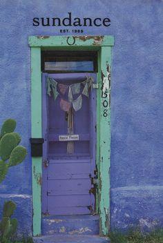 ❥ sundance, purplicious door