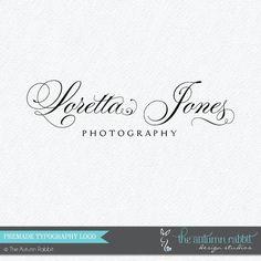 Premade Photography Logo Design - 2 font logo design - Business Branding - Business Branding on Etsy, $30.00
