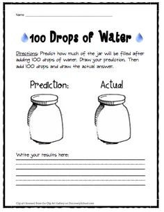 100 Drops of Water - 100th Day of School
