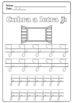 Alphabet Worksheets, Kindergarten Worksheets, Preschool Activities, Homeschool, Sheet Music, Math Equations, Alice, Letter J Activities, Language Activities