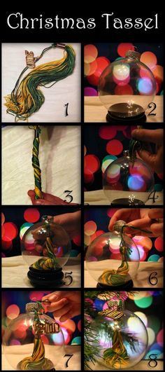 Instruction for Tassel Ornament. Now I can actually do something with those old graduation tassels!