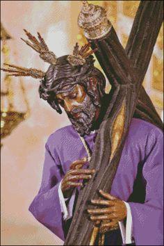 Esquema del Cristo de los Gitanos en Punto de Cruz (1)
