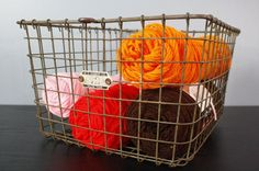 Old wire locker basket. I have my eye out for these. $30