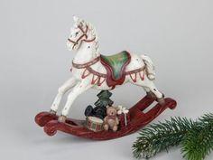 Deko-Schaukelpferd-Pferdchen-Dekofigur-Weihnachtsdeko-Deko-Pferd-Winterdeko-22cm