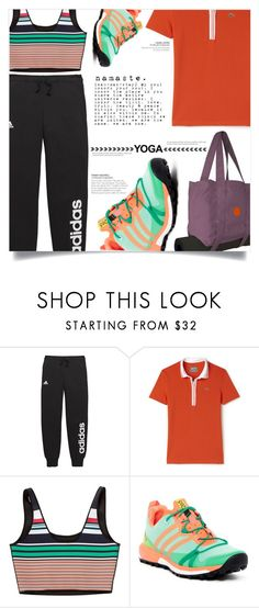 """""""Namaste: What to Wear to Yoga"""" by dolly-valkyrie ❤ liked on Polyvore featuring adidas, Yogitoes, Lacoste, Clover Canyon and yoga"""