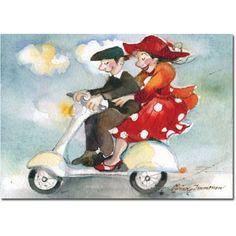 Minna L. Immonen postikortti verkkokaupasta Semester, Finland, Disney Characters, Fictional Characters, Disney Princess, Illustration, Painting, Travel, Veils