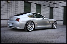 "Z4 M Coupe with aero side skirts on 19"" staggered MORR VS8.2."