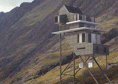 Дом на сваях в Шотландии
