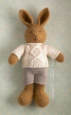 little cotton rabbits knit toy