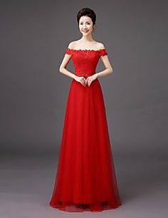 Floor-length+Lace+Bridesmaid+Dress+Sheath+/+Column+Off-the-shoulder+with+Embroidery+/+Lace+–+USD+$+49.99