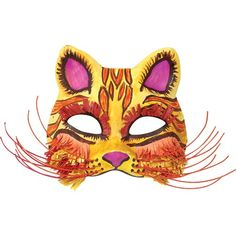 United Art and Education Art Project: Paint a colorful Cat Mask and add cool wire and construction paper accents.