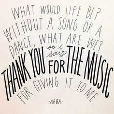 Thank You For The Music - ABBA image from A BEAUTIFUL LITTLE LIFE: December 2013