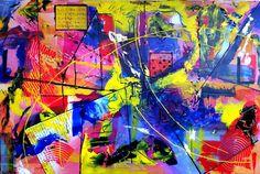 Alles, schilderij van Christian van Hedel | Abstract | Modern | Kunst