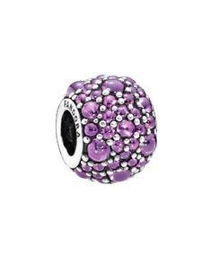 301a4c1be66c Pandora Charm - Sterling Silver   Cubic Zirconia Purple Shimmer Droplets