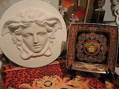 VERSACE MEDUSA PLATE ASH TRAY bread candy fruit Dish Rosenthal Lover Gift SALE
