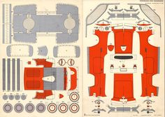 Arbeitskreis Geschichte des Kartonmodellbaus (AGK) e.V. - Sportwagen Ford Thunderbird - Bogendownload