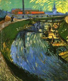 The Roubine du Roi Canal with Washerwomen Vincent Van Gogh Reproduction | 1st Art Gallery