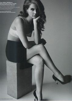 Lana Del Rey and Alberto Guardiani Lipstick Heel