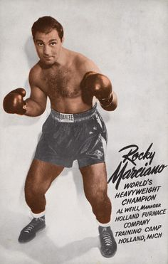 Rocky Marciano (September 1, 1923 – August 31, 1969), born Rocco Francis Marchegiano, was an American boxer and the heavyweight champion of the world from September 23, 1952, to April 27, 1956. Marciano is the only champion to hold the heavyweight title and go untied, undefeated throughout his career. Marciano defended his title six times. He holds notable wins over Ezzard Charles and Joe Louis.