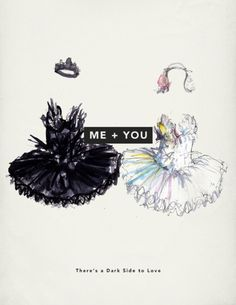 Halloween costume for next year. im the black swan and linds is the white swan Ballet Illustration, Graphic Illustration, Valentine Day Cards, Valentines, Gothic, Gifts For Photographers, Black Swan, White Swan, Image Of The Day