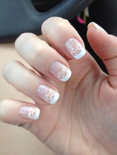 50 French Nails Ideas For Every Bride - Ongles 02 Elegant Nail Designs, Elegant Nails, Nail Art Designs, French Nails, French Manicures, Nail Manicure, My Nails, Prom Nails, Gel Nail