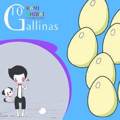 10 gallinas. Kamishibai
