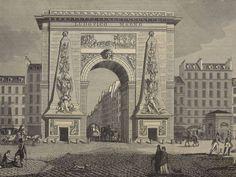 Zicht op de poort St Denis, Parijs - vue sur porte Saint Denis, Paris