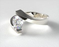 Design your own tension set engagement ring online. Browse our stunning selection of tension set rings, and choose the perfect diamond to match, all in HD. Shop Engagement Rings, Engagement Ring Styles, Designer Engagement Rings, Engagement Ring Settings, Solitaire Engagement, Alternative Wedding Rings, Wedding Ring Bands, Unique Rings, Ring Designs