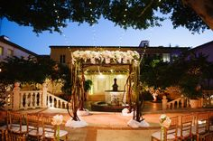 outdoor ceremony setup at The Addison in Boca Raton / photo by soulechostudios.com