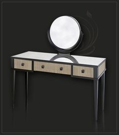love this modern vanity dressing table