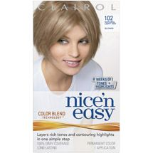 Clairol Nice 'N Easy 102 Natural Light Ash Blonde Hair Color