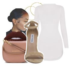 A fashion look from July 2016 featuring Steve Madden sandals, MICHAEL Michael Kors shoulder bags et Melissa Odabash earrings. Browse and shop related looks. Curvy Outfits, Swag Outfits, Dope Outfits, Cute Summer Outfits, Classy Outfits, Spring Outfits, Teen Fashion, Fashion Outfits, Womens Fashion