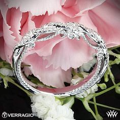This Diamond Wedding Ring is from the Verragio Insignia Collection.<-- I'd totally wear that as an engagment ring.
