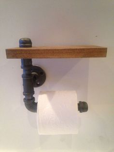 A personal favorite from my Etsy shop https://www.etsy.com/listing/229371522/industrial-black-pipe-toilet-paper: