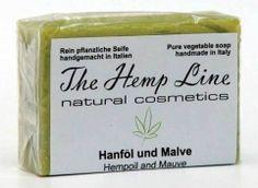 Hanf-Seife aus Hanföl und Malve - The Hemp Line - natural cosmetics #hanf #hemp #eco #bio #organic