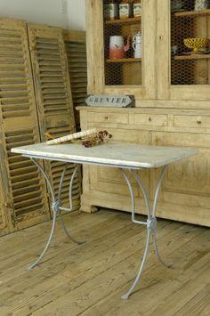 アンティーク 大理石のビストロテーブル French antique marble bistro table