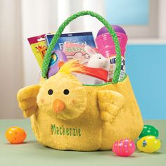 Personalized Easter Chick Basket - Zoom - Zoom