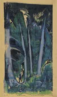 ERNST LUDWIG KIRCHNER (1880-1938)  WETTERTANNEN (D. 392)