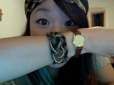 this old dress.: Recycled T-Shirt Knotted Bracelet Tutorial