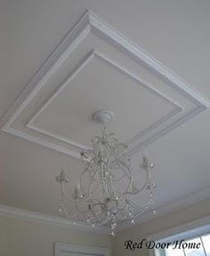 Would like to try something a little larger on the ceilings to give dimension.