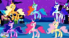 My Little Pony Mane 6 Transforms Into Princess Luna Alicorn Surprise Egg...