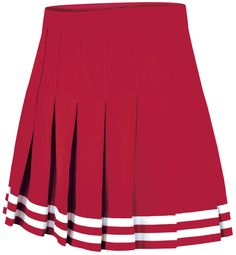 Double-Knit Knife-Pleat Cheerleading Uniform Skirt