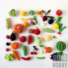 Crochet Vegetables and Fruits Patterns